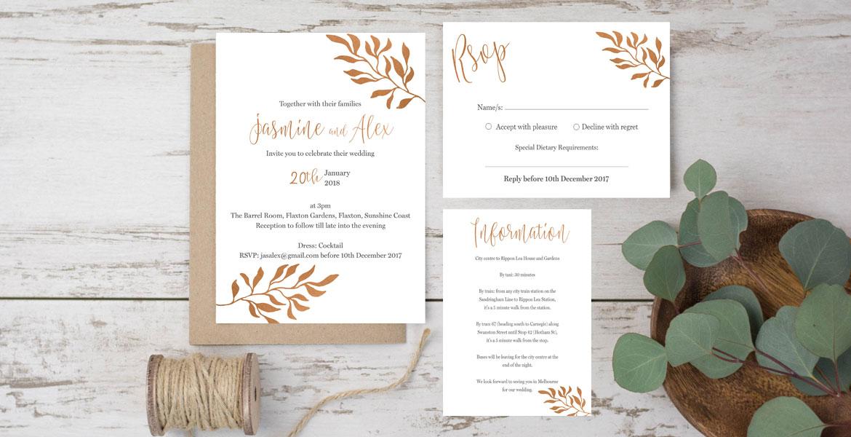 Online Wedding Invitations Australia, Elegant Wedding Stationery ...