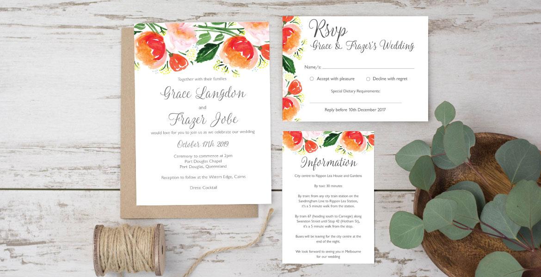 wedding invitations australia online | Wedding