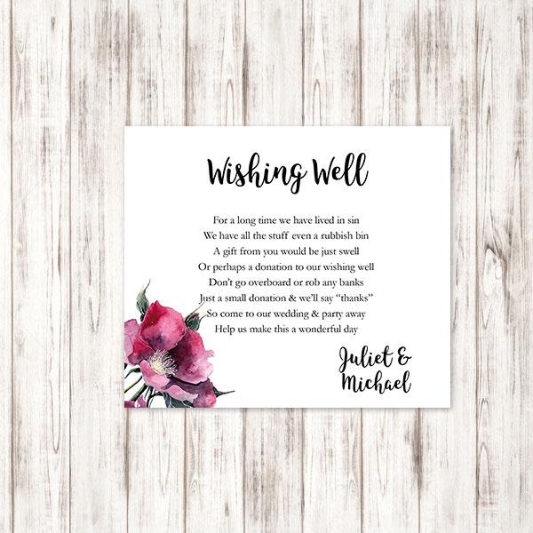 Wishing Well Wedding.Botanics Wishing Well