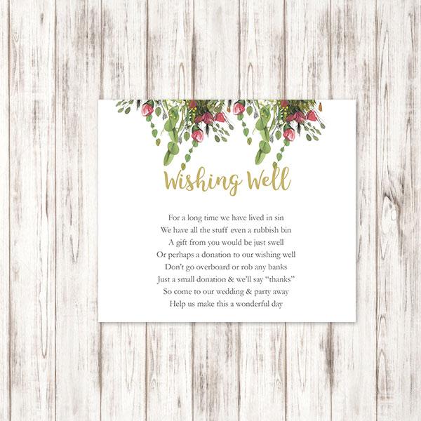Wishing Well Wedding.Native Botanics Wishing Well