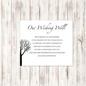 Bare Tree Wedding Wishing Well