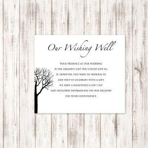 Bare Tree Wedding Wishing Well