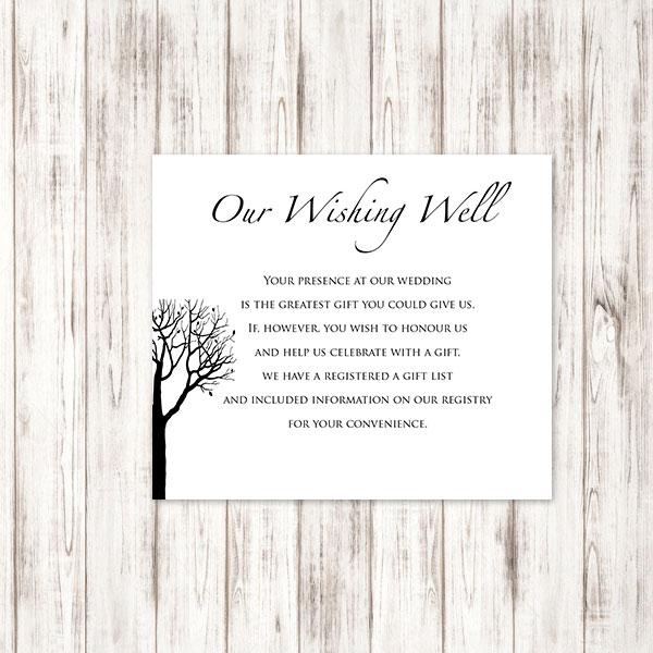 Wedding Wishing Well.Bare Tree Wishing Well