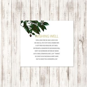 Olive branch wishing Well