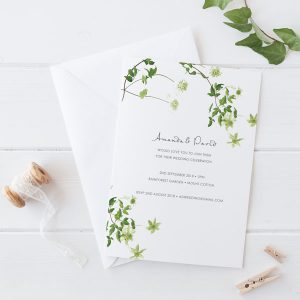Gorgeous Fluttering Wedding Invitation Wording