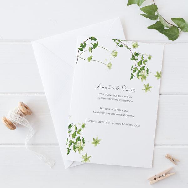 Gorgeous Fluttering Wedding Invitation Wording