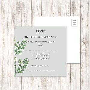wedding rsvp printing