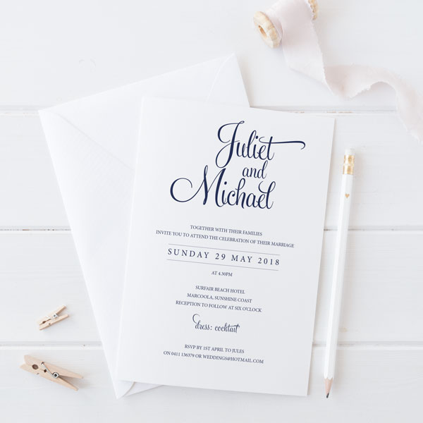 Calligraphy Wedding Invitations Online Wedding Invite Australia