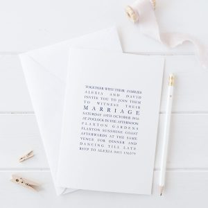 text based wedding invite