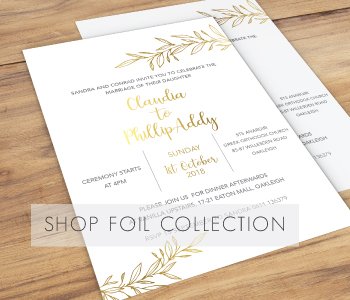 foil elegant wedding invites collection