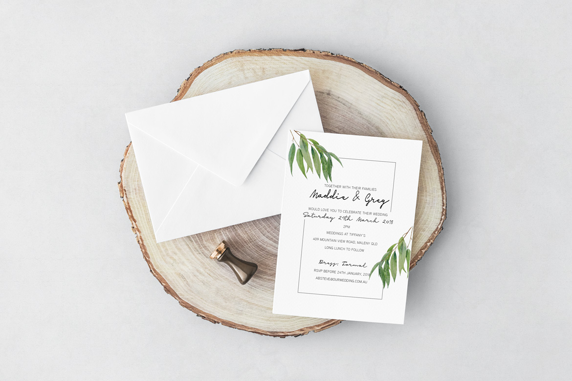 Garden Willow Wedding Invitation