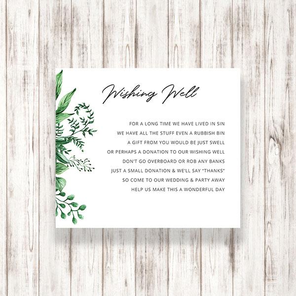 Wedding Wishing Well.Greenery Wedding Wishing Well