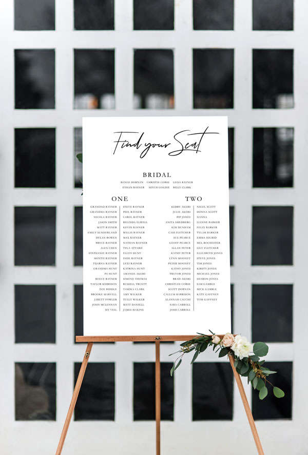 Wedding Seating Chart - Inviting Weddings