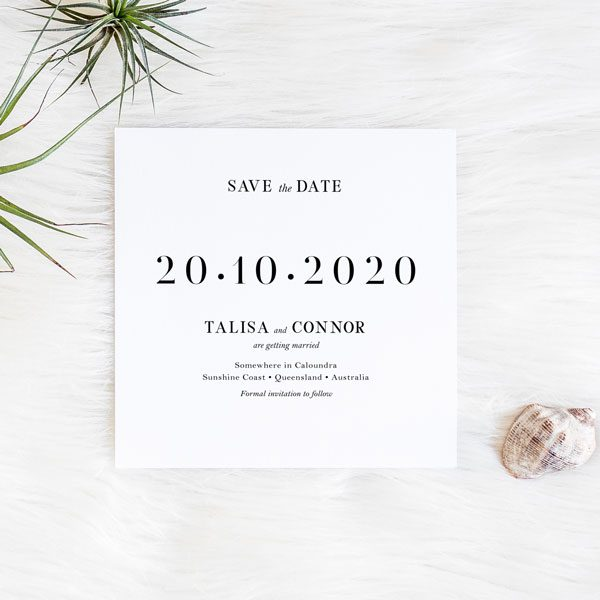 Time for Us Wedding Save the Date card